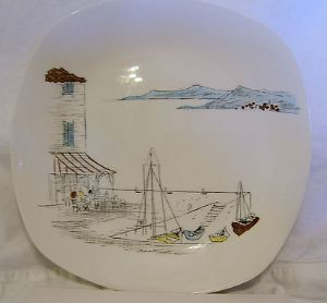 Midwinter 'Cannes' 9.5 inch Plate - 1960s - Temp Out Of Stock